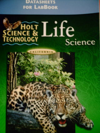 Holt Life Science DataSheets for LabBook California Ed (CA)(P)