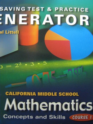 California MS Mathematics Course 1 Test Generator (CA)(CD)