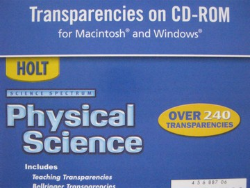 Science Spectrum Physical Science Transparencies (CD)