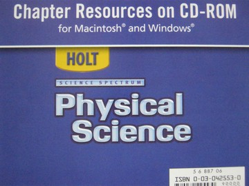 Science Spectrum Physical Science Chapter Resources CD (CD)