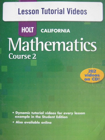 California Mathematics Course 2 Lesson Tutorial Videos (CD)