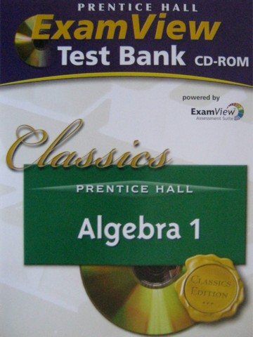 PH Algebra 1 Algebra 2 Classic Edition ExamView Test Bank (CD)