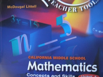California MS Mathematics Course 2 Electronic Teacher Tools (CD)