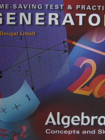 Algebra 1 Time-Saving Test & Practice Generator (CD)