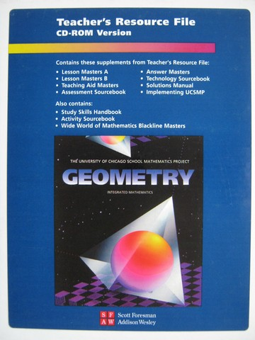 UCSMP Geometry Teacher's Resource File CD-ROM (TE)(CD)