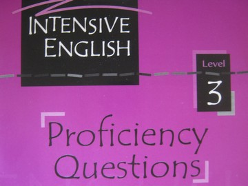 Intensive English 3 Proficiency Questions (CD)