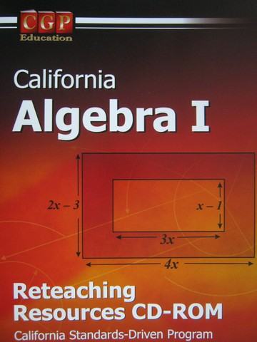 CGP California Algebra 1 Reteaching Resources CD-ROM (CA)(CD)