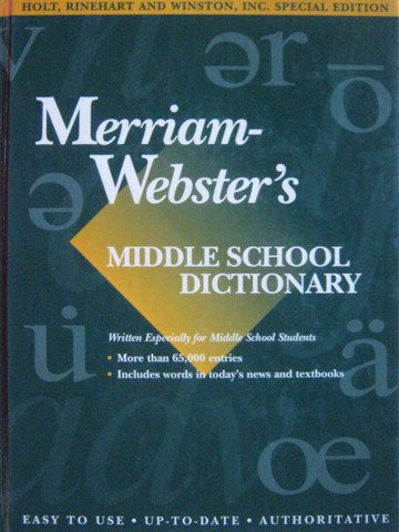 Merriam-Webster's Middle School Dictionary (H)