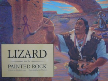 Lizard & the Painted Rock (P) by Elizabeth Lane