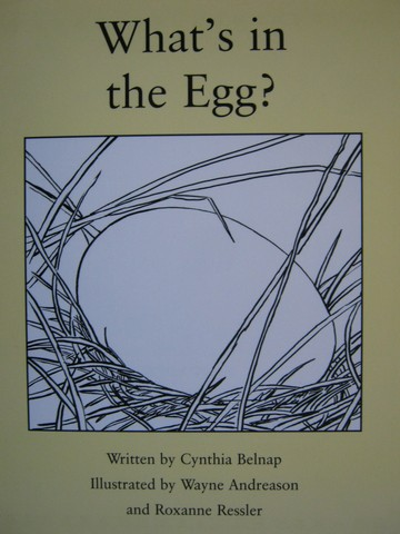 Readable What's in the Egg? (P) by Cynthia Belnap