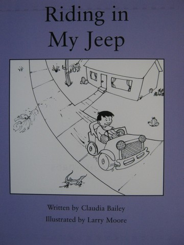 Readalbe Riding in My Jeep (P) by Claudia Bailey
