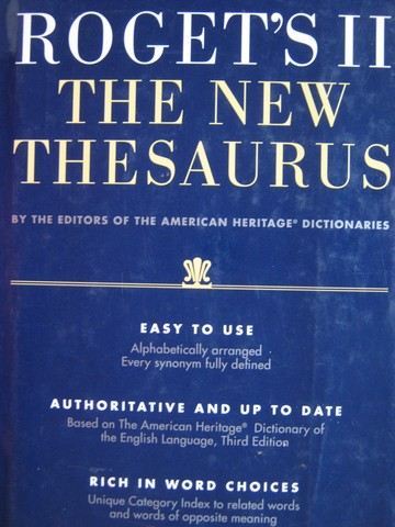 Roget's II The New Thesaurus 3rd Edition (H)