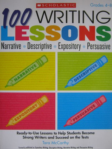 100 Writing Lessons Grades 4-8 (P) by Tara McCarthy