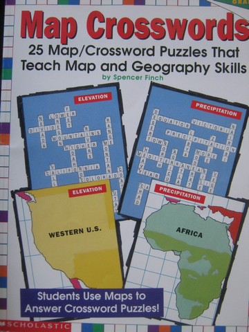 Map Crosswords Grades 4-8 (P) by Spencer Finch
