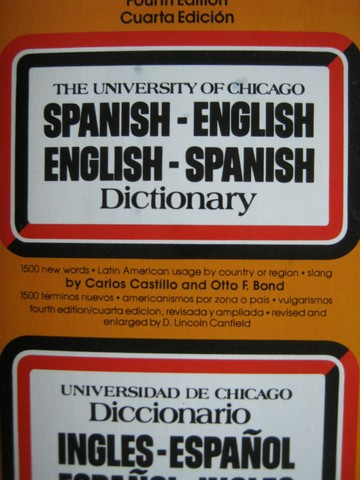 University of Chicago Spanish Dictionary 4th Edition (P)