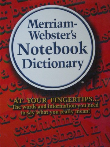 Merriam-Webster's Notebook Dictionary (P)