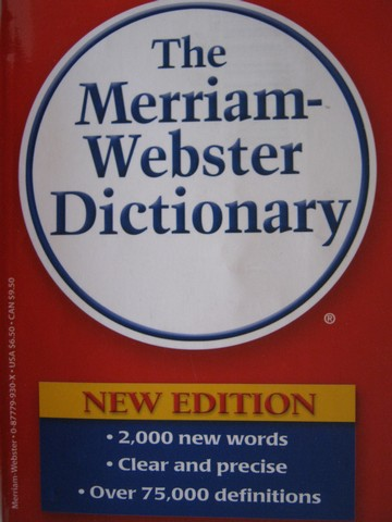 Merriam-Webster Dictionary New Edition (P)