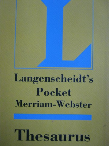 Pocket Merriam-Webster Thesaurus (P)
