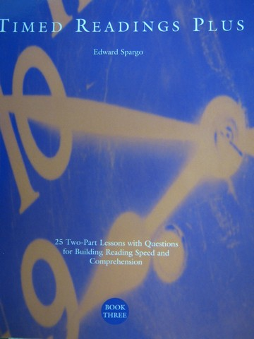 Timed Readings Plus Book 3 Level F (P) by Edward Spargo
