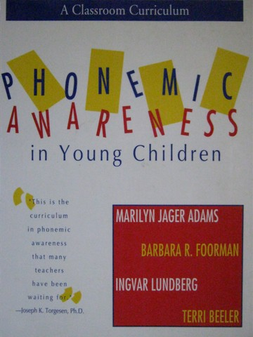 Phonemic Awareness in Young Children (Spiral) by Adams, Foorman,