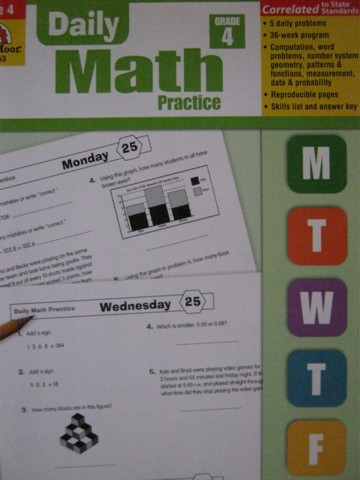 Daily Math Practice Grade 4 (P) by Wes Tuttle