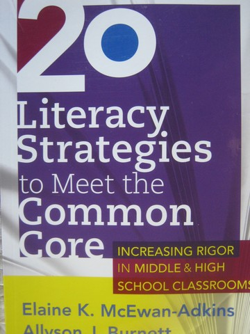 20 Literacy Strategies to Meet the Common Core (P)