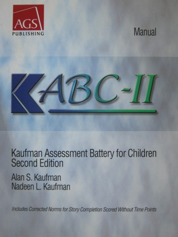 AGS ABC-II 2nd Edition Manual (P) by Kaufman