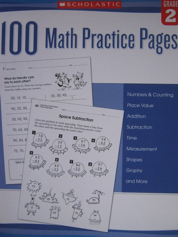 100 Math Practice Pages Grade 2 (P) by Mela Ottaiano
