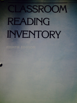 Classroom Reading Inventory 8th Edition (Spiral) by Silvaroli
