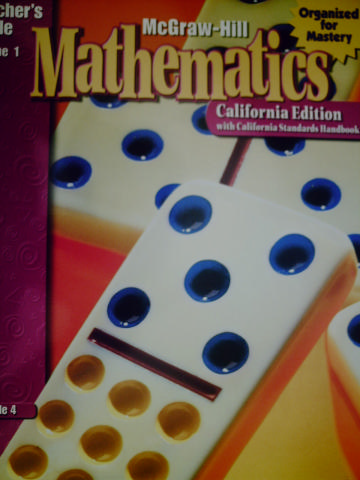 McGraw-Hill Mathematics 4 TG Volume 1 (CA)(TE)(Spiral)