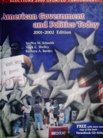 American Government & Politics Today 2001-2002 Edition (H) No CD
