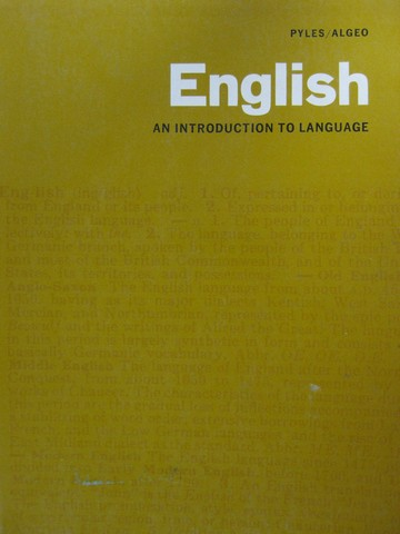 English An Introduction to Language (P) by Pyles & Algeo