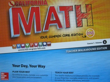 California Math Course 1 Common Core Volume 2 TWE (TE)(Spiral)