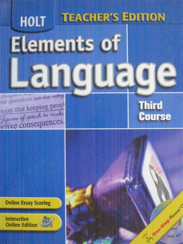 Elements of Language 3rd Course TE (TE)(H) by Odell, Vacca,