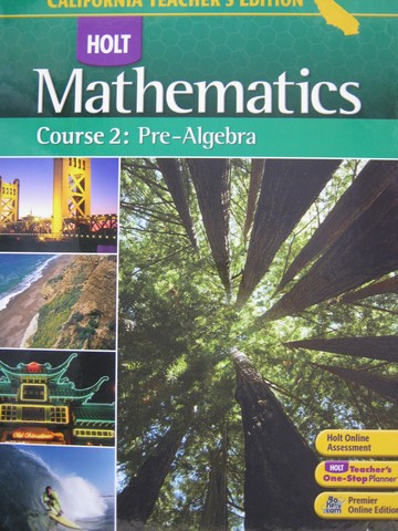California Mathematics Course 2 Pre-Algebra TE (CA)(TE)(H)