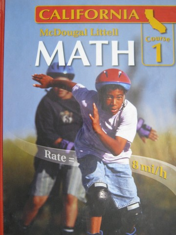 ML Math Course 1 California (CA)(H) by Larson, Boswell, Kanold,