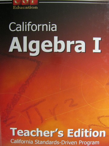 CGP California Algebra 1 TE (CA)(TE)(H) by Major & Park