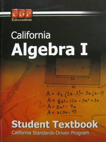 CGP California Algebra 1 Student Textbook (CA)(H)