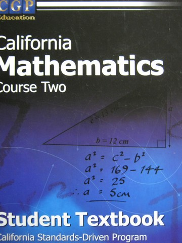CGP California Mathematics Course 2 Student Textbook (CA)(H)