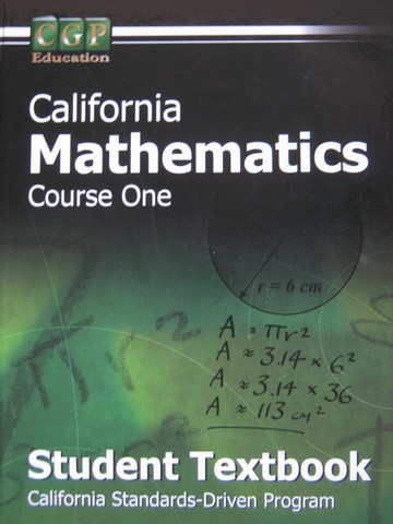 CGP California Mathematics Course 1 Student Textbook (CA)(H)