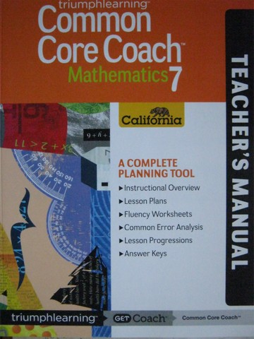 Common Core Coach Mathematics 7 TM (CA)(TE)(P)