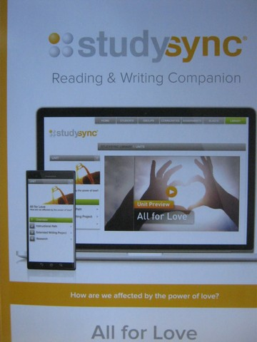 Studysync 9.4 Reading & Writing Companion (P)
