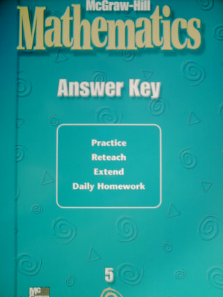 McGraw-Hill Mathematics 5 Answer Key (P)