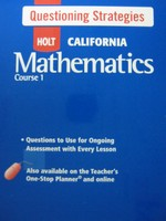 California Mathematics Course 1 Questioning Strategies (Spiral)