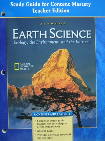 Earth Science Study Guide for Content Mastery TE (TE)(P)