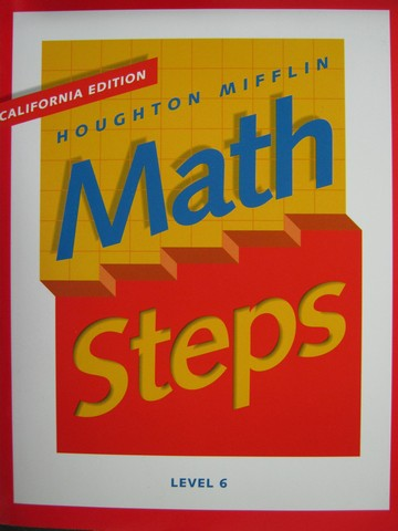 Math Steps 6 California Edition (CA)(P) by Barry, Boyle,