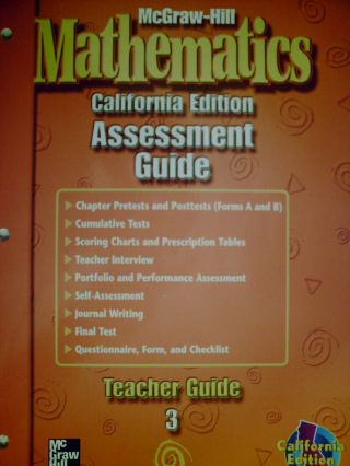 McGraw-Hill Mathematics 3 Assessment Guide TG (CA)(TE)(P)