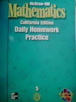 McGraw-Hill Mathematics 5 Daily Homework Practice (CA)(P)
