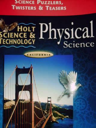 holt physical science science puzzlers twisters teasers ca p 0030557097 k 12. Black Bedroom Furniture Sets. Home Design Ideas