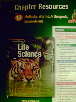glencoe life science chapter resources 13 mollusks worms p 0078269113 textbook. Black Bedroom Furniture Sets. Home Design Ideas